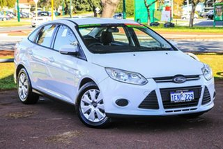 2014 Ford Focus LW MkII Ambiente PwrShift White 6 Speed Sports Automatic Dual Clutch Sedan.