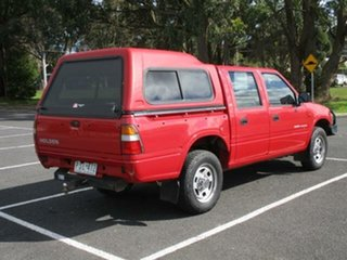 1999 Holden Rodeo LX (4x4) Red Manual Crewcab.