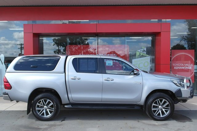 Pre-Owned Toyota Hilux GUN126R SR5 Double Cab Swan Hill, 2016 Toyota Hilux GUN126R SR5 Double Cab Silver 6 Speed Sports Automatic Utility