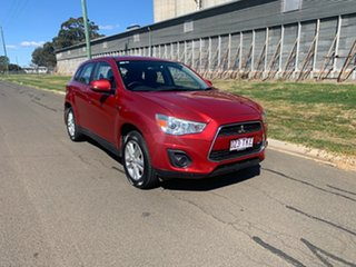 2013 Mitsubishi ASX XB MY13 (2WD) Red Continuous Variable Wagon.