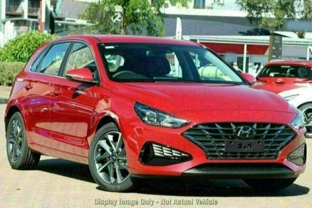 New Hyundai i30 PD.V4 MY21 Active Castle Hill, 2021 Hyundai i30 PD.V4 MY21 Active Fiery Red 6 Speed Sports Automatic Hatchback