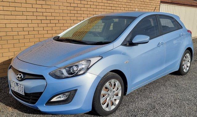 Used Hyundai i30 GD Active Horsham, 2012 Hyundai i30 GD Active Blue 6 Speed Sports Automatic Hatchback