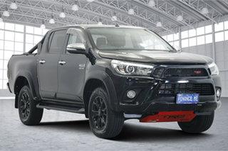 2017 Toyota Hilux GUN126R SR5 Double Cab Black 6 Speed Sports Automatic Utility.