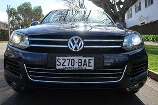 2014 Volkswagen Touareg 7P MY14 150TDI Tiptronic 4MOTION Blue 8 Speed Sports Automatic Wagon.