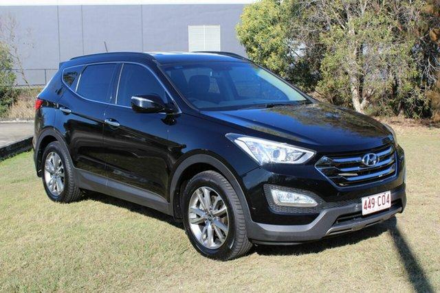 Used Hyundai Santa Fe DM MY13 Elite Ormeau, 2013 Hyundai Santa Fe DM MY13 Elite Black 6 Speed Sports Automatic Wagon