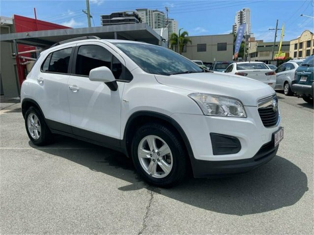 Used Holden Trax TJ LS Southport, 2014 Holden Trax TJ LS White 6 Speed Automatic Wagon