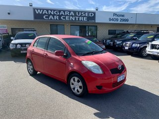 2006 Toyota Yaris NCP91R YRS Red 4 Speed Automatic Hatchback.