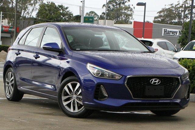 Used Hyundai i30 PD2 MY19 Active Aspley, 2019 Hyundai i30 PD2 MY19 Active Blue 6 Speed Sports Automatic Hatchback