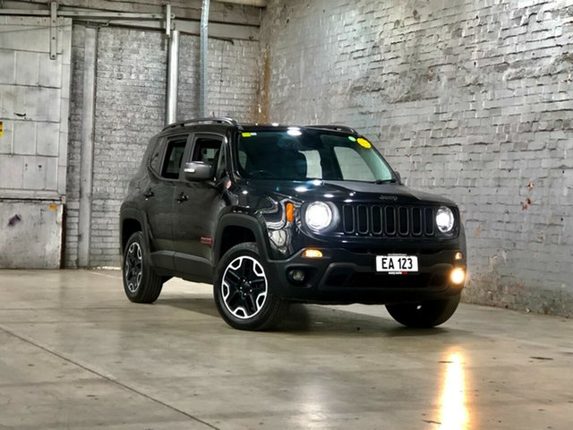 Used Jeep Renegade BU MY16 Trailhawk AWD Mile End South, 2015 Jeep Renegade BU MY16 Trailhawk AWD Black 9 Speed Sports Automatic Hatchback
