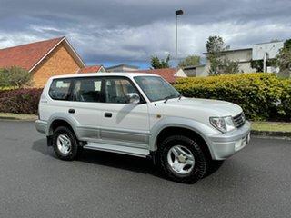 2002 Toyota Landcruiser Prado VZJ95R VX White 4 Speed Automatic Wagon.