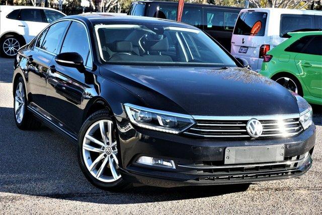Used Volkswagen Passat 3C (B8) MY18 132TSI DSG Phillip, 2018 Volkswagen Passat 3C (B8) MY18 132TSI DSG Black 7 Speed Sports Automatic Dual Clutch Sedan