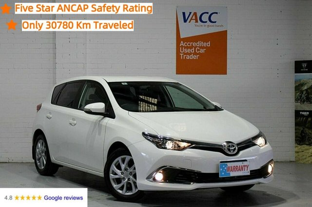 Used Toyota Corolla ZRE182R Ascent Sport S-CVT Moorabbin, 2016 Toyota Corolla ZRE182R Ascent Sport S-CVT White 7 Speed Constant Variable Hatchback