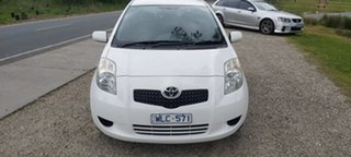 2008 Toyota Yaris NCP90R YR White 4 Speed Automatic Hatchback.