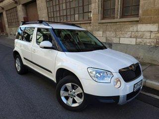 2011 Skoda Yeti 5L 77TSI DSG Clear White 7 Speed Sports Automatic Dual Clutch Wagon.