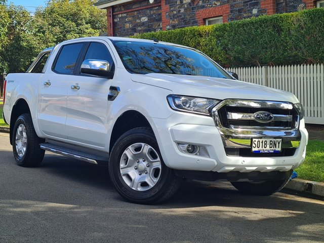 Used Ford Ranger PX MkII 2018.00MY XLT Double Cab 4x2 Hi-Rider Hyde Park, 2018 Ford Ranger PX MkII 2018.00MY XLT Double Cab 4x2 Hi-Rider White 6 Speed Manual Utility