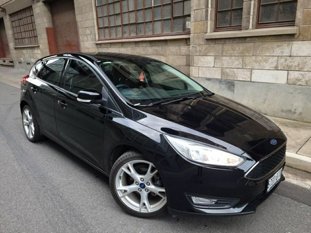 Used Ford Focus LZ Trend Cheltenham, 2015 Ford Focus LZ Trend Shadow Black 6 Speed Automatic Hatchback