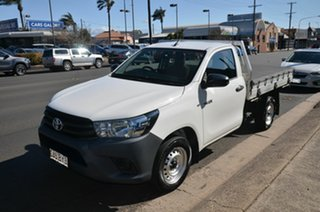 2017 Toyota Hilux TGN121R Workmate White 6 Speed Automatic Cab Chassis