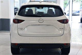 2021 Mazda CX-5 KF4WLA Akera SKYACTIV-Drive i-ACTIV AWD White 6 Speed Sports Automatic Wagon.