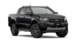2021 Ford Ranger PX MkIII 2021.75MY Wildtrak Shadow Black 10 Speed Sports Automatic.