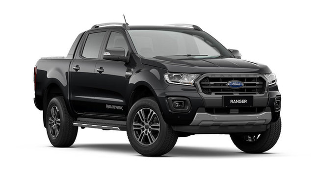 New Ford Ranger PX MkIII 2021.75MY Wildtrak Cardiff, 2021 Ford Ranger PX MkIII 2021.75MY Wildtrak Shadow Black 10 Speed Sports Automatic