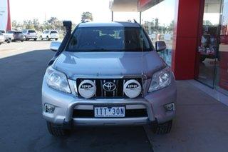 2010 Toyota Landcruiser Prado KDJ150R GXL Silver 5 Speed Sports Automatic Wagon.