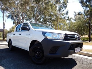 2018 Toyota Hilux TGN121R MY17 Workmate Glacier White 6 Speed Automatic Dual Cab Utility.