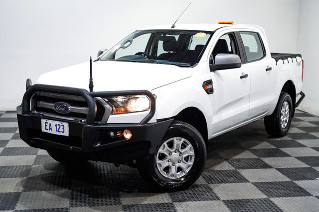 Used Ford Ranger PX MkII XLS Double Cab Edgewater, 2017 Ford Ranger PX MkII XLS Double Cab White 6 Speed Sports Automatic Utility