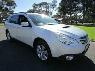 2010 Subaru Outback MY11 2.0D Premium AWD Pearl White 6 Speed Manual Wagon.