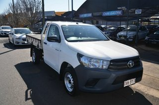 2017 Toyota Hilux TGN121R Workmate White 6 Speed Automatic Cab Chassis.