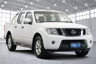 2014 Nissan Navara D40 S6 MY12 ST White 5 Speed Sports Automatic Utility.