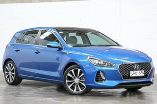 2018 Hyundai i30 PD2 MY18 Premium D-CT Blue 7 Speed Sports Automatic Dual Clutch Hatchback.