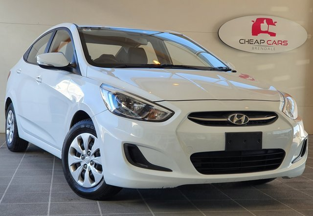 Used Hyundai Accent RB3 MY16 Active Brendale, 2016 Hyundai Accent RB3 MY16 Active White 6 Speed Constant Variable Sedan