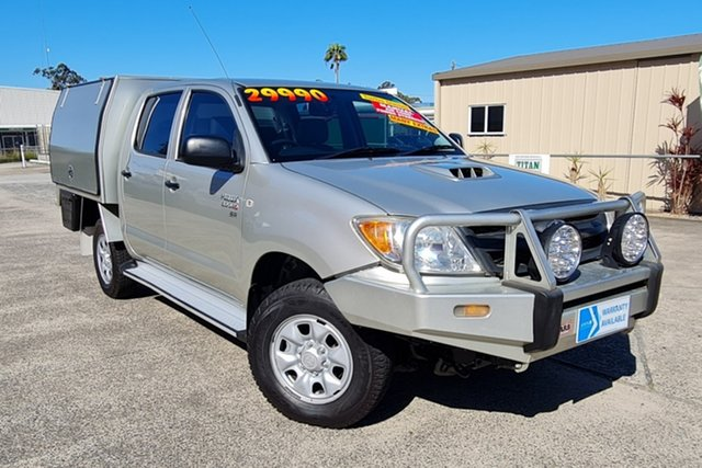 Used Toyota Hilux KUN26R MY08 SR Morayfield, 2007 Toyota Hilux KUN26R MY08 SR Silver 5 Speed Manual Cab Chassis