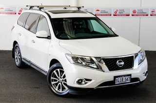 2017 Nissan Pathfinder R52 MY17 Series 2 ST-L (4x4) White Continuous Variable Wagon.