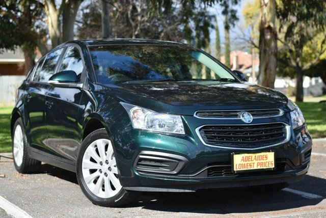 Used Holden Cruze JH Series II MY16 Equipe Morphett Vale, 2016 Holden Cruze JH Series II MY16 Equipe Green 6 Speed Sports Automatic Hatchback
