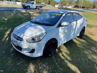 2016 Hyundai Accent RB3 MY16 Active White 6 Speed Manual Hatchback.