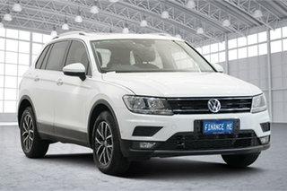 2017 Volkswagen Tiguan 5N MY18 110TDI DSG 4MOTION Comfortline Pure White 7 Speed.