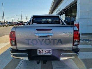 2017 Toyota Hilux GUN126R SR5 (4x4) Silver Sky 6 Speed Automatic Dual Cab Utility.