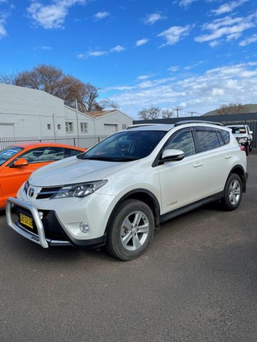 Pre-Owned Toyota RAV4 ALA49R MY14 Upgrade GXL (4x4) Wellington, 2014 Toyota RAV4 ALA49R MY14 Upgrade GXL (4x4) Crystal Pearl 6 Speed Automatic Wagon