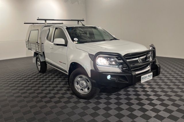 Used Holden Colorado RG MY19 LS Space Cab Acacia Ridge, 2018 Holden Colorado RG MY19 LS Space Cab White 6 speed Automatic Cab Chassis