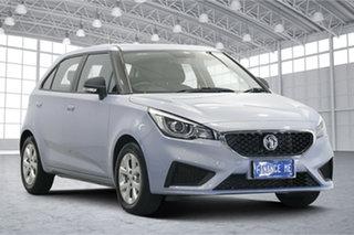2021 MG MG3 SZP1 MY21 Core Skyfall Silver 4 Speed Automatic Hatchback.