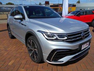 2021 Volkswagen Tiguan 5N MY21 162TSI R-Line DSG 4MOTION Pyrite Silver 7 Speed.