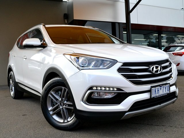 Used Hyundai Santa Fe DM3 MY17 Active Fawkner, 2017 Hyundai Santa Fe DM3 MY17 Active White 6 Speed Sports Automatic Wagon