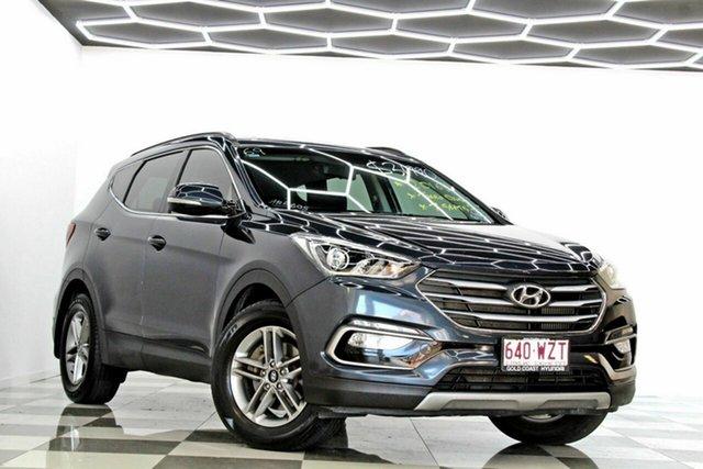 Used Hyundai Santa Fe DM Series II (DM3)MY17 Active (4x4) Burleigh Heads, 2016 Hyundai Santa Fe DM Series II (DM3)MY17 Active (4x4) Blue 6 Speed Automatic Wagon
