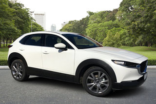 2021 Mazda CX-30 DM2W7A G20 SKYACTIV-Drive Touring White Pearl 6 Speed Sports Automatic Wagon.