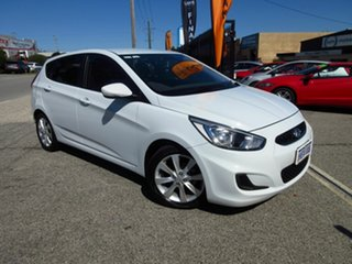 2017 Hyundai Accent RB5 Sport White 6 Speed Automatic Hatchback.