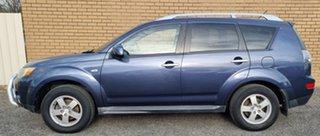 2009 Mitsubishi Outlander ZG MY09 LS Blue 6 Speed Constant Variable Wagon.