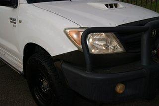 2008 Toyota Hilux KUN16R 08 Upgrade SR White 5 Speed Manual Dual Cab Pick-up.