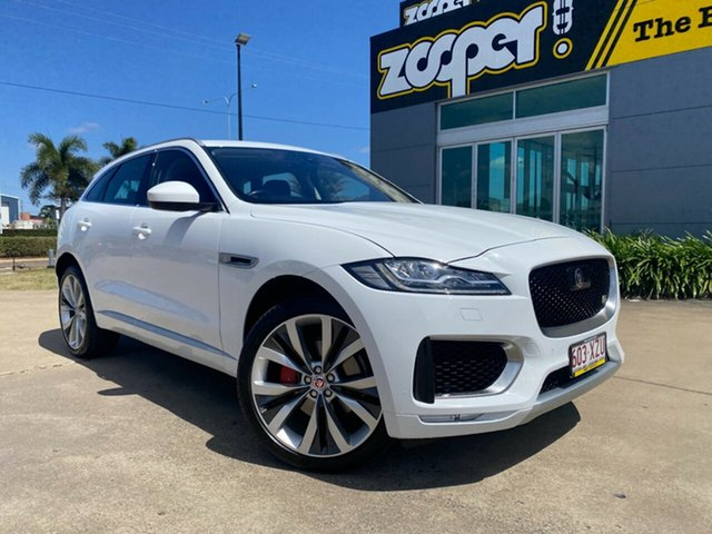 Used Jaguar F-PACE X761 MY17 S Townsville, 2016 Jaguar F-PACE X761 MY17 S White/190816 8 Speed Sports Automatic Wagon
