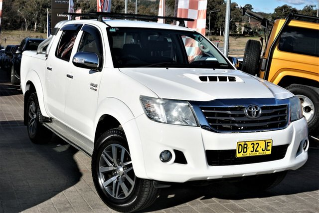Used Toyota Hilux KUN26R MY14 SR5 Double Cab Phillip, 2014 Toyota Hilux KUN26R MY14 SR5 Double Cab White 5 Speed Automatic Utility